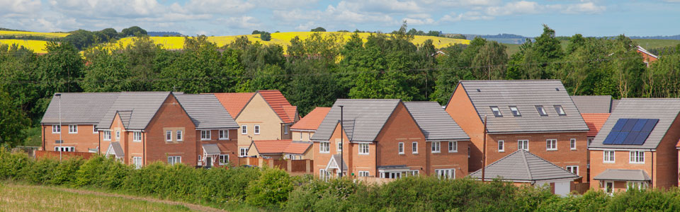 New build houses in England