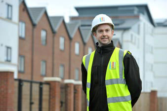 UCML staff at new build houses in Leeds