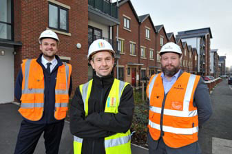 UCML staff at housing estate in Leeds