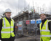 UCML staff at Sale care home site