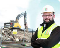 UCML staff at Rochdale building site